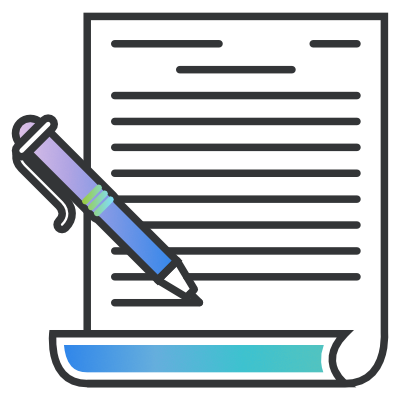 Icon of a pen and paper