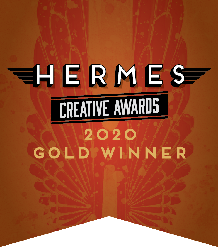 Hermes Creative Awards 2020 Gold Winner Badge