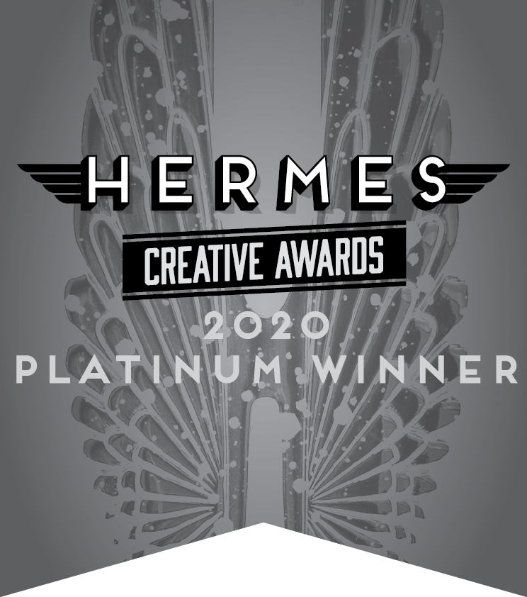 Hermes Creative Awards 2020 Platinum Winner Badge